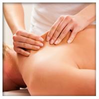 client receiving accupressure bodywork