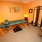 Our spacious massage room.